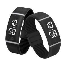 rubber bracelet watches images Mens womens rubber led watch date sports bracelet digital wrist jpg