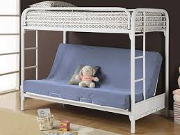 Loft Bed With Futon Chair Black Metal Twin Futon Loft Bunk Bed - White futon bunk bed
