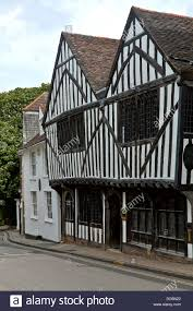tudor house late 15th century tudor house in colchester essex great britain