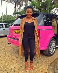 pink range rover huddah monroe selling her posh range rover ghafla