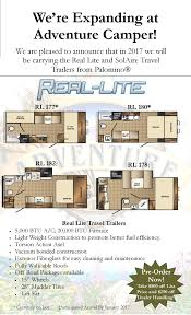 real lite travel trailer from palomino adventure camper