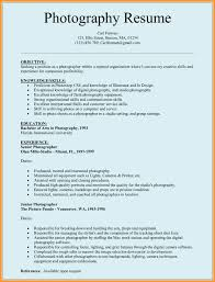 Photographer Resume Format Professional Associations And Education For Photography Resume