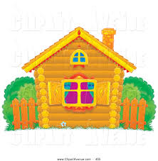 Home Design Free Diamonds Avenue Clipart Of A Small Colorful Log Home With Diamond Shutters