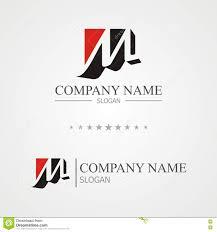 m letter logo stock vector image 82633726