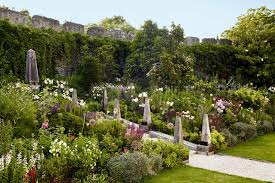 create a sloping border country garden design ideas
