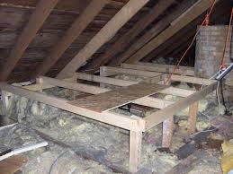 attic storage platform for blown in insulation house ideas