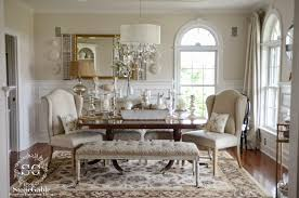 elements of summer chic beach in the dining room stonegable