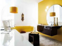 bathroom color schemes with white color and yellow accents http