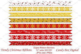 wide christmas ribbon trendy christmas ribbon borders objects creative market