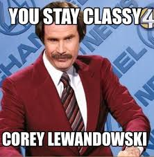 Lewandowski Memes - meme creator you stay classy corey lewandowski meme generator at