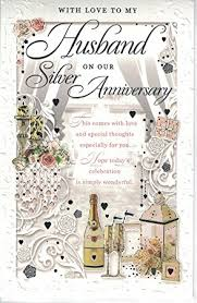 For My Husband On Our Husband 25th Anniversary Card With Love To My Husband On Our