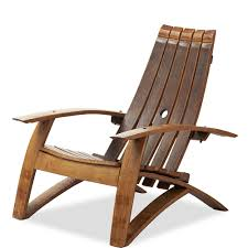 Wine Barrel Rocking Chair Plans Chair Wine Barrel Adirondack Chair And Footstool Vivaterra Chairs
