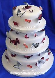 butterfly wedding cake imaginative icing cakes scarborough