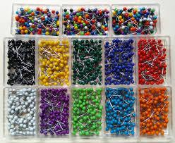 200 map pins push pins travel map tacks various colors 2