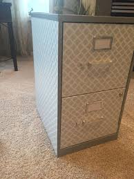 contact paper file cabinet covered a basic filing cabinet with contact paper so chic