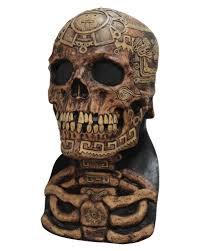 latex masks halloween aztec skull mask as halloween mask horror shop com