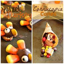 last minute thanksgiving favors pretzel turkey s and cornucopia