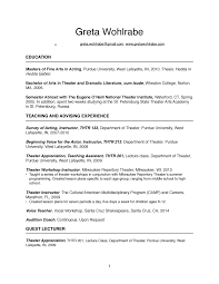 College Lecturer Resume Training And C V U2014 Greta Wohlrabe