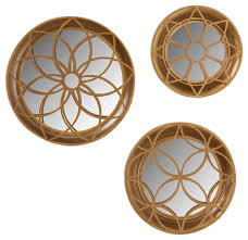 Wall Mirror Sets Decorative Kate And Laurel Laurent 3 Piece Decorative Dimensional Mirror Set