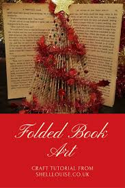 folded book art christmas tree 24xmascrafts advent shell louise