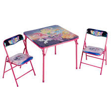 little tea table set my little pony children s folding table and chairs set 3 piece