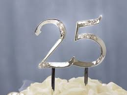 25 cake topper ya ya unbeatable at 25 silver cake topper table tops