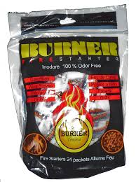 burner fireplace and campfire fire starter packets
