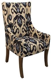 peninsula home collection madison chair in ikat navy view in
