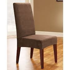 Amazoncom Sure Fit Soft Suede Shorty Dining Room Chair - Short dining room chair covers