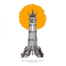 landmarks series jam gadang
