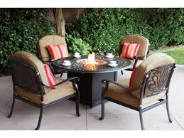 Outdoor Table With Firepit by Darlee Outdoor Living Series 60 Cast Aluminum 60 Round Propane