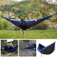 fnova double camping hammock portable 210t parachute nylon fabric