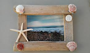 driftwood frame 5x7 shell picture frame driftwood home decor
