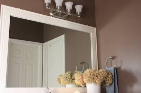 trim around bathroom mirror for inspiration ideas diy bathroom