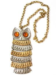 long gold owl necklace images Park lane 1970s vintage necklace 70s park lane womens gold jpg