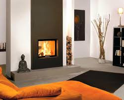design fireplace surround with raised hearth contemporary double
