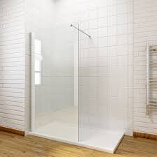 Walk In Shower Doors Glass by 1900mm Walk In Wet Room Shower Enclosure Screen Tray Waste Return