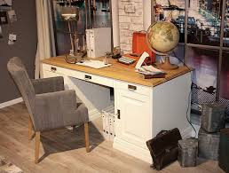 Pc Schreibtisch Klein Schreibtisch 162x78x70cm 6 Schubladen 1 Tür Kiefer Massiv