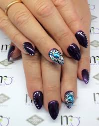 mo nails m7 blackberry purple with mo nails emboss gel eg11