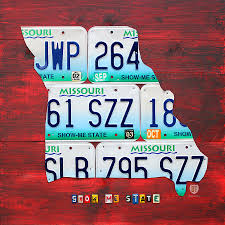 Usa License Plate Map by License Plate Map Of Missouri Show Me State By Design Turnpike