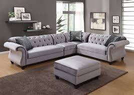 Sectional Sofas Gray Jolanda Ii Sectional Sofa Cm6158gy In Gray Fabric W Options