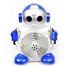 Desk Top Fans Cute Robot Shaped Cool Mini Desktop Fan