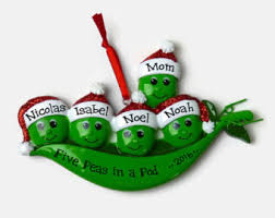 pea pod ornament etsy