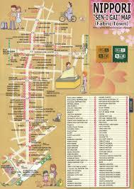 Map Fabric General Store Nippori Tokyo U0027s Fabric Town Maps