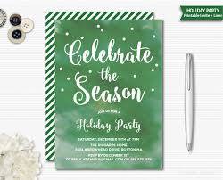 Christmas Party Invitations With Rsvp Cards - etsy christmas party invitations stephenanuno com