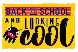 vector illustration of retro back to school greeting card with
