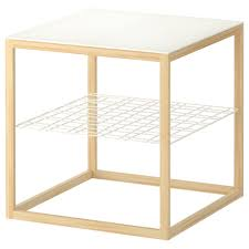 Ikea Tables Living Room by Furniture Simple Glass Side Table Ikea With Oak Wood Frame For