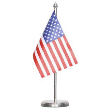 Usa Flag For Sale United Nations Table Flag With Round Stainless Steel Base Flag