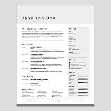 Modern Word Resume Templates Free Modern Resume Templates For Word Creative Resume Template