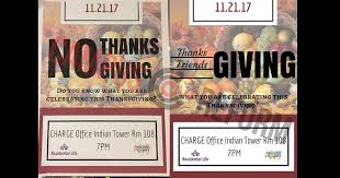 suny albany event calls thanksgiving a day of mourning